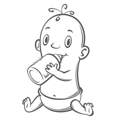 baby with bottle vector image vector image