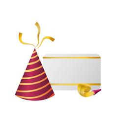 birthday hat decoration vector image