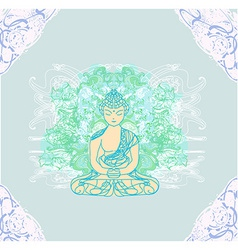 Chinese traditional artistic buddhism pattern vector