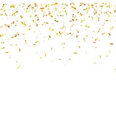 Christmas golden confetti falling shiny confetti vector
