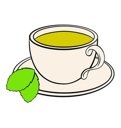 Cup of tea icon cartoon vector