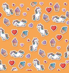 cute unicorn pattern vector image