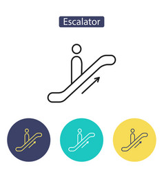 escalator icon isolated on white background vector image