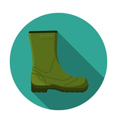 Flat design modern of rubber boot icon camping vector image