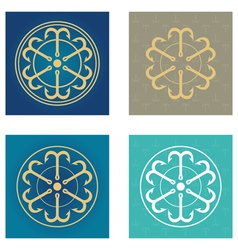 Four symbols from anchors vector image vector image