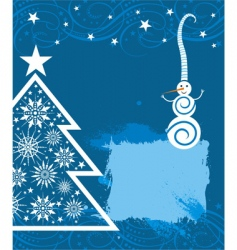 funny snowman card for Christmas vector image vector image