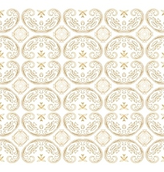 Golden ornate seamless pattern with eastern vector