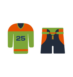 hockey uniform accessory in flat style vector image vector image