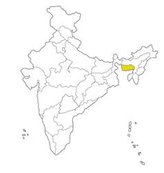 Meghalaya vector