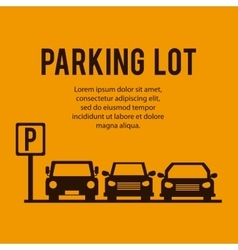 Parking lot design park icon yellow background vector