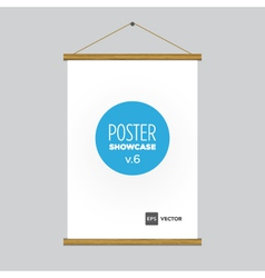 poster flag vector image