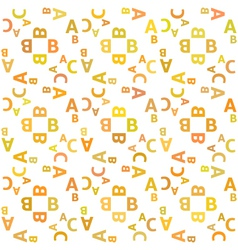 seamless pattern with alphabet vector image vector image