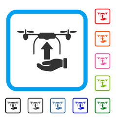 send drone hand framed icon vector image vector image