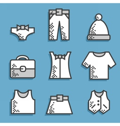 Set icons dress code vector