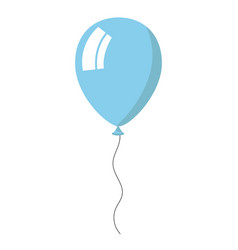 skyblue balloon on white background vector image vector image