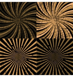 twirls vector image