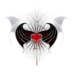 vampire wings vector image vector image