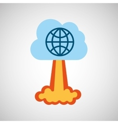 Start up business globe connected graphic isolated vector