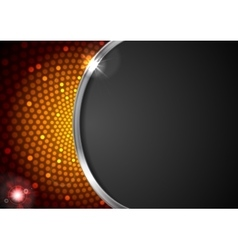 Abstract orange shiny flicker glowing design vector