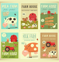 farm house posters vector image