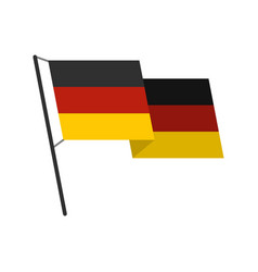 german flag icon flat style vector image