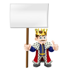thumbs up sign king vector image
