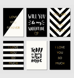 greeting cards collection vector image