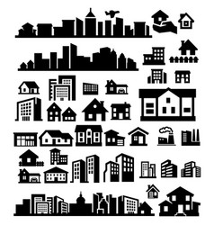 Houses icons vector