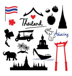 Thailand place landmark travel icon cartoon vector