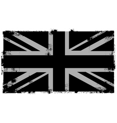 Grunge black british background vector