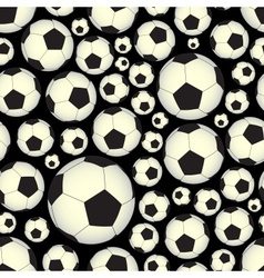 Soccer and football balls dark seamless pattern vector