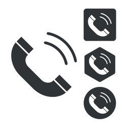 Calling icon set monochrome vector