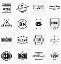 Set of minimal and clean vintage hipster logotype vector