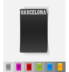 Realistic design element barcelona vector