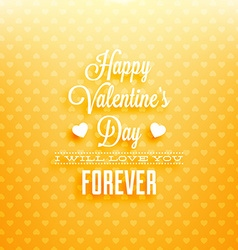 Yellow valentines card vector