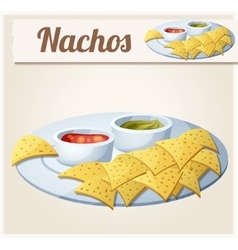 Nachos tortilla chips vector