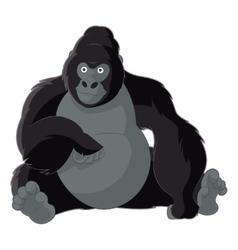Cartoon smiling gorilla vector image