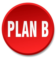 Plan b red round flat isolated push button vector