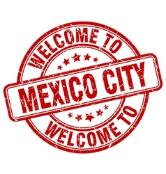 Welcome to mexico city vector