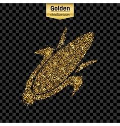 Gold glitter icon of corn on the cob vector
