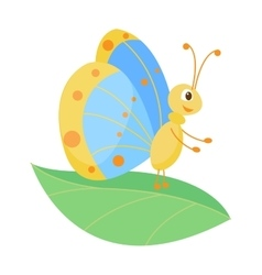 Cute butterfly isolated on white vector
