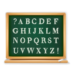 abc set written on blackboard vector image vector image