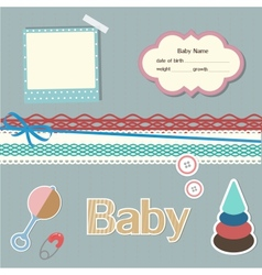 Baby scrapbook elements vector image vector image