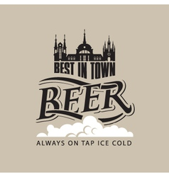 Beer tap on vector
