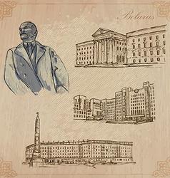 Belarus hand drawn pack no1 vector