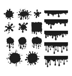 Black drops set vector