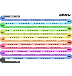 Chain calendar 2013 vector image vector image
