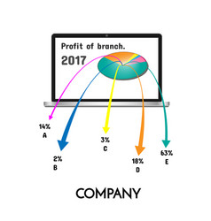 chart showing profit of the company vector image