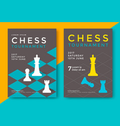 Chess tournament poster vector