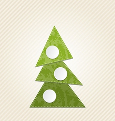 Christmas abstract tree minimal style vector image vector image